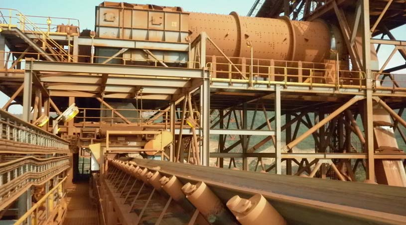 Scrubber washing plant